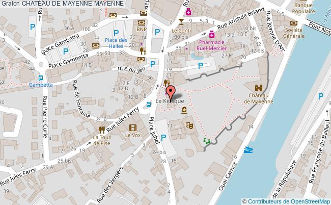 plan Chateau De Mayenne Mayenne