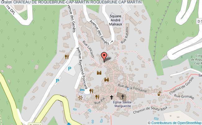 plan Chateau De Roquebrune-cap-martin Roquebrune Cap Martin