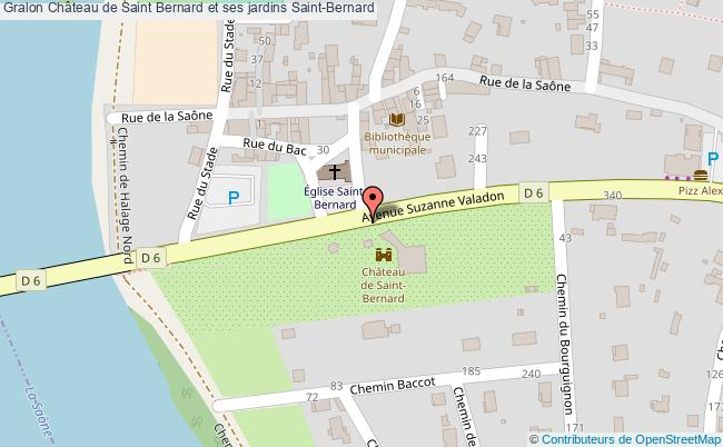 plan Château De Saint Bernard Et Ses Jardins Saint-bernard