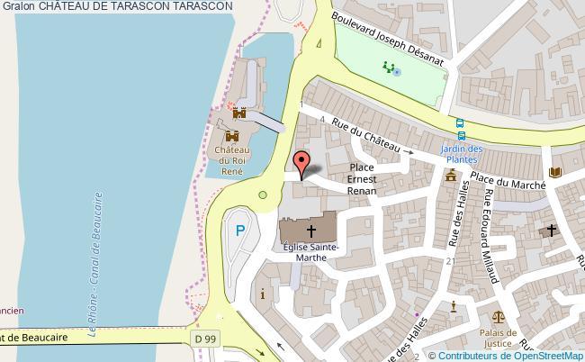 plan ChÂteau De Tarascon Tarascon