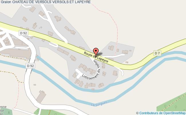 plan Chateau De Versols Versols Et Lapeyre