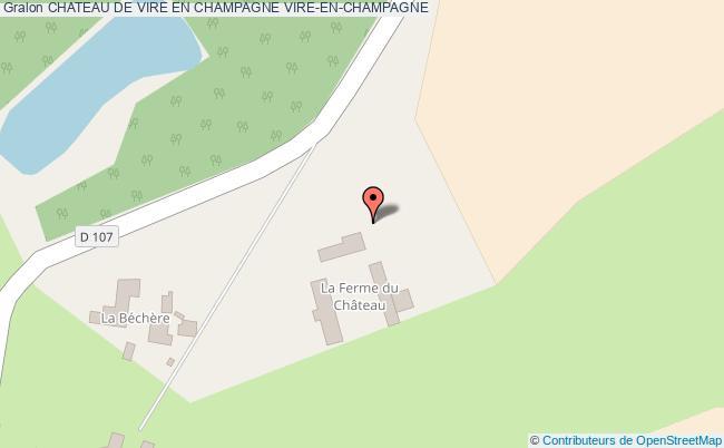 plan Chateau De Vire En Champagne Vire-en-champagne