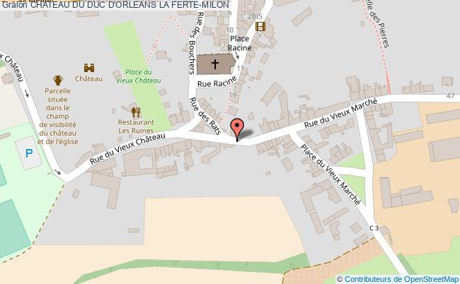 plan Chateau Du Duc D'orleans La Ferte-milon