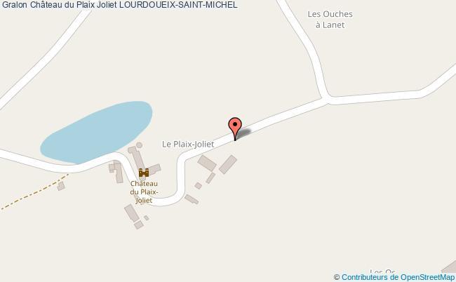 plan Château Du Plaix Joliet Lourdoueix-saint-michel
