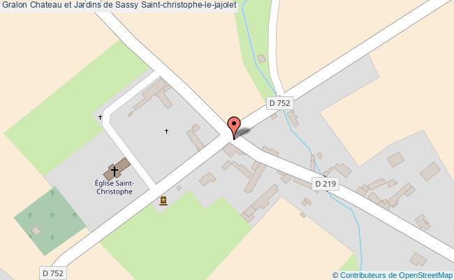 plan association Chateau Et Jardins De Sassy Saint-christophe-le-jajolet Saint-christophe-le-jajolet