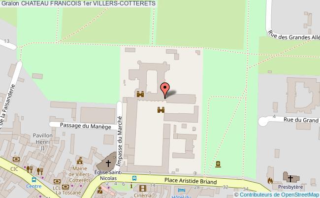 plan Chateau Francois 1er Villers-cotterets