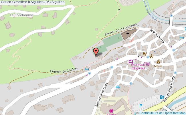 plan Cimetière à Aiguilles (05) Aiguilles