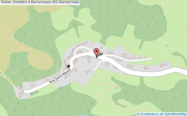 plan Cimetière à Barrancoueu (65) Barrancoueu