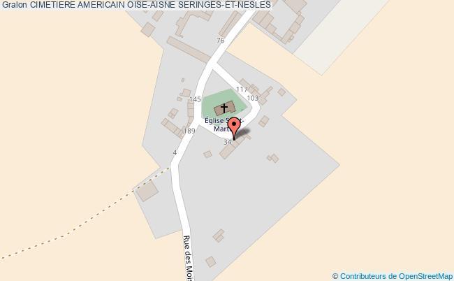 plan association Cimetiere Americain Oise-aisne Seringes-et-nesles SERINGES-ET-NESLES