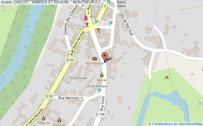 """plan Circuit """" Arbres Et Riviere """" Montrevault"""