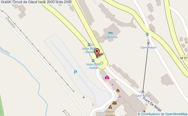 plan Circuit De Glace Isola 2000 Isola 2000