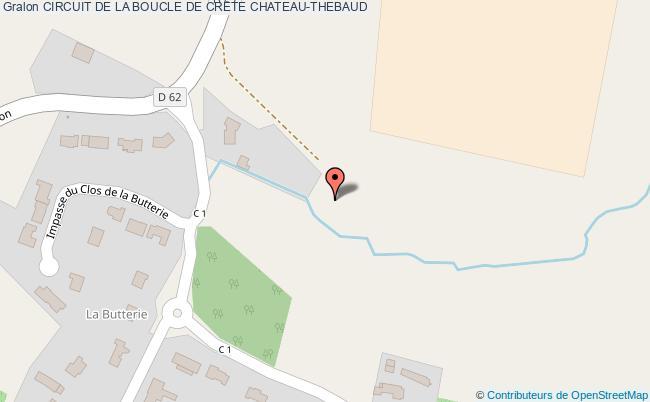 plan Circuit De La Boucle De Crete Chateau-thebaud