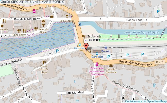 plan Circuit De Sainte Marie Pornic