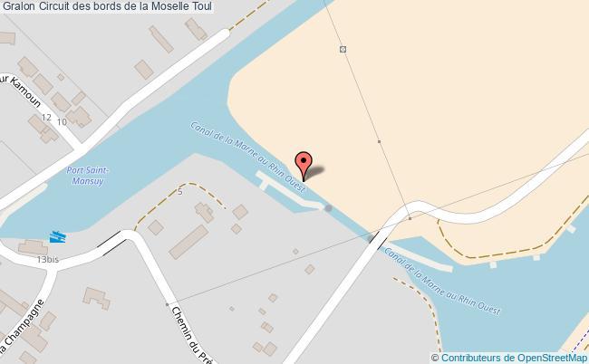 plan association Circuit Des Bords De La Moselle Toul Toul
