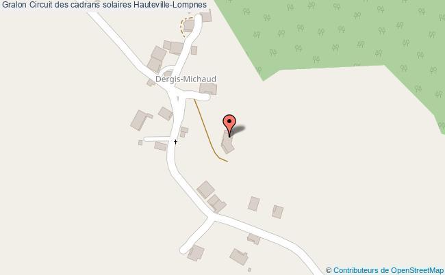 plan Circuit Des Cadrans Solaires Hauteville-lompnes