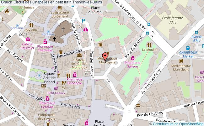plan association Circuit Des Chapelles En Petit Train Thonon-les-bains Thonon-les-Bains