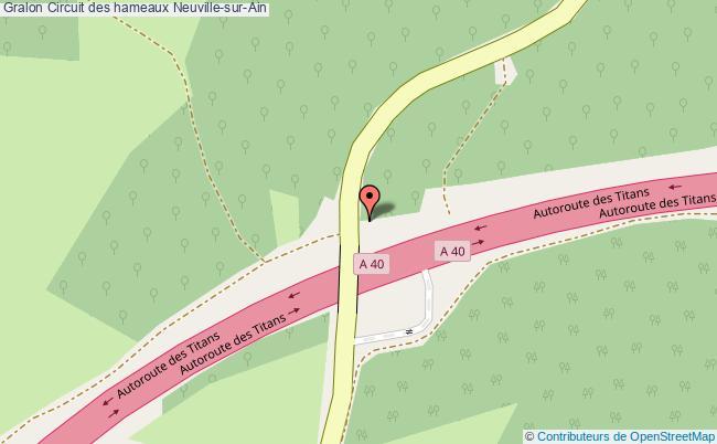 plan Circuit Des Hameaux Neuville-sur-ain