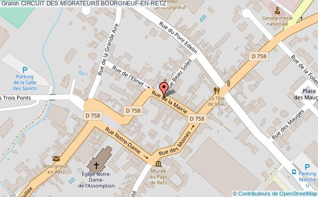 plan Circuit Des Migrateurs Bourgneuf-en-retz