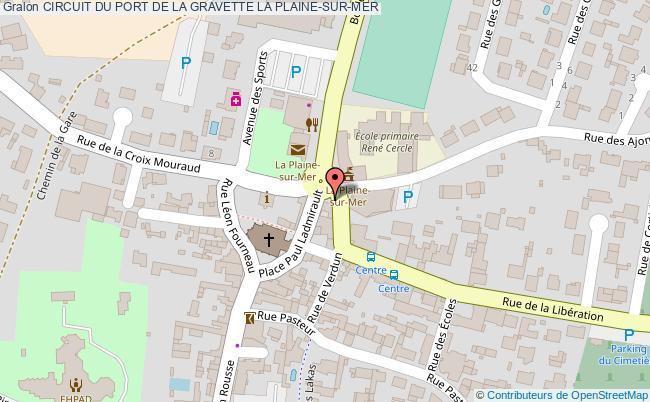 plan Circuit Du Port De La Gravette La Plaine-sur-mer