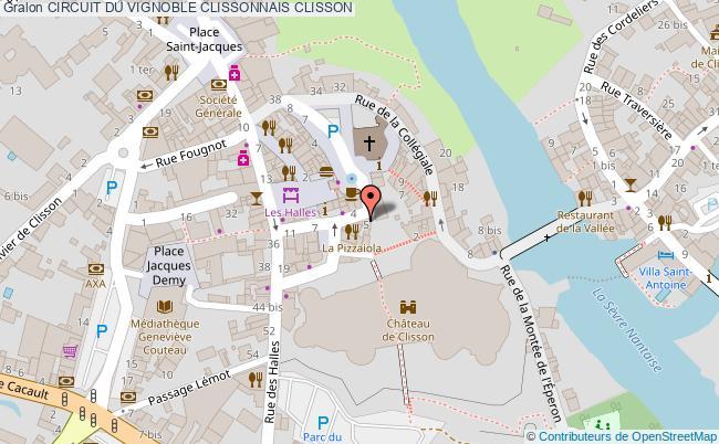 plan Circuit Du Vignoble Clissonnais Clisson