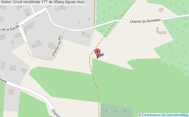 plan Circuit Randonnée Vtt De L'étang Aigues-vives