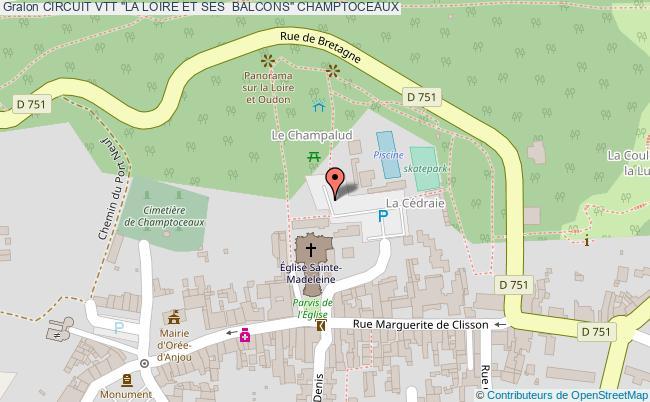 """plan Circuit Vtt """"la Loire Et Ses  Balcons"""" Champtoceaux"""