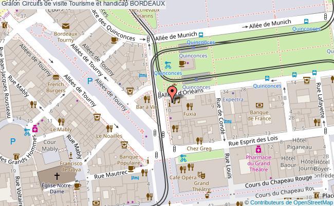 Plan Circuits De Visite Tourisme Et Handicap Bordeaux