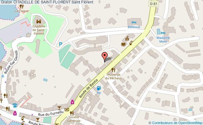 plan Citadelle De Saint-florent Saint Florent