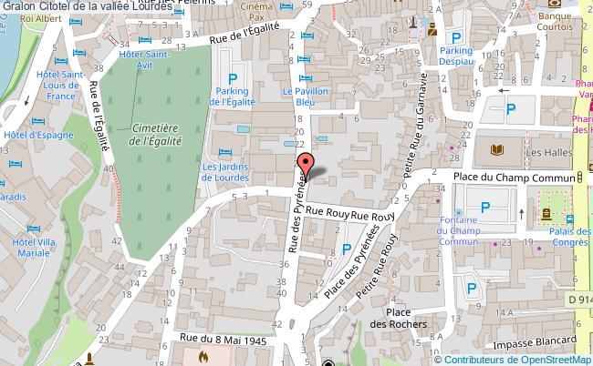 plan Citotel De La Vallée Lourdes