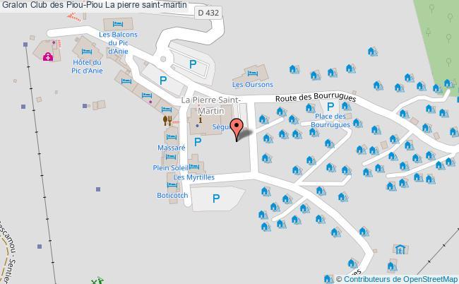 plan Club Des Piou-piou La Pierre Saint-martin