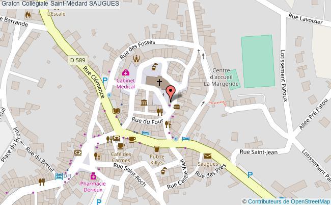 plan association Collégiale Saint-médard Saugues SAUGUES