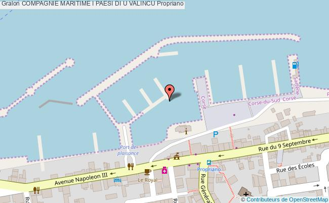 plan association Compagnie Maritime I Paesi Di U Valincu Propriano Propriano