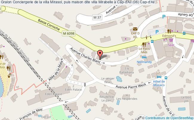 plan Conciergerie De La Villa Mirasol, Puis Maison Dite Villa Mirabelle à Cap-d'ail (06) Cap-d'ail