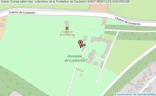 plan Conservation Des  Collections De La Fondation De Coubertin Saint-remy-les-chevreuse