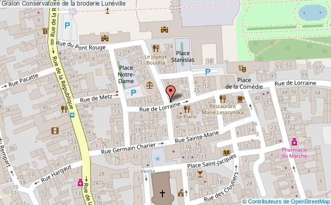 plan Conservatoire De La Broderie Lunéville