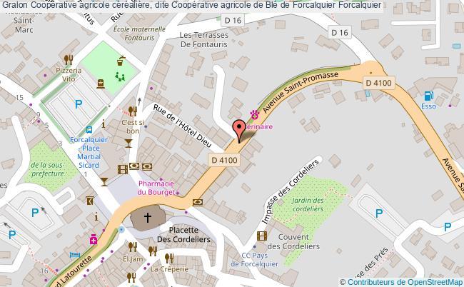 plan Coopérative Agricole Céréalière, Dite Coopérative Agricole De Blé De Forcalquier Forcalquier
