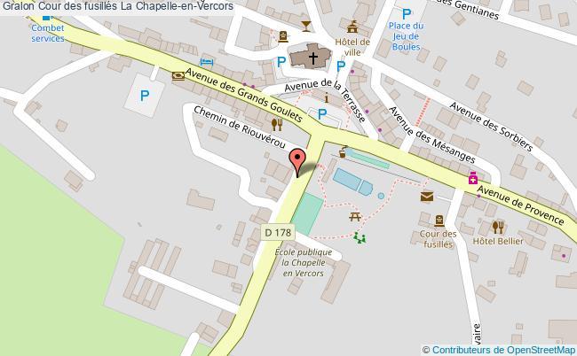plan association Cour Des Fusillés La Chapelle-en-vercors La Chapelle-en-Vercors