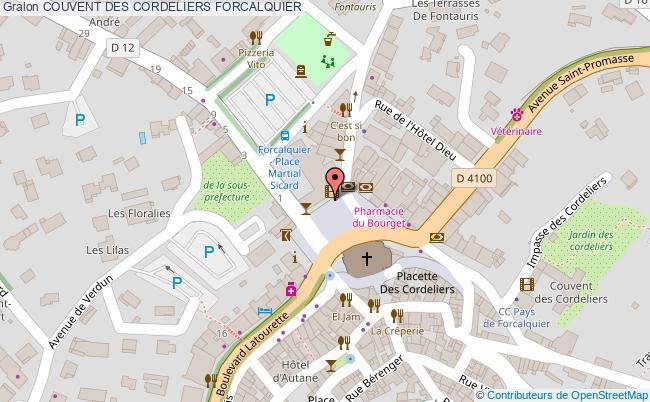 plan Couvent Des Cordeliers Forcalquier