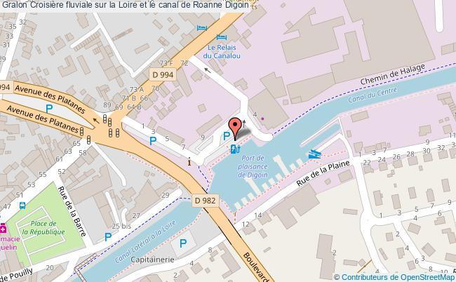 plan association Croisière Fluviale Sur La Loire Et Le Canal De Roanne Digoin Digoin