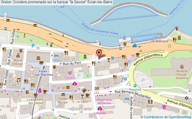 """plan Croisière-promenade Sur La Barque """"la Savoie"""" Évian-les-bains"""