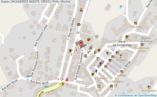 plan Croisieres Monte Cristo Porto Vecchio