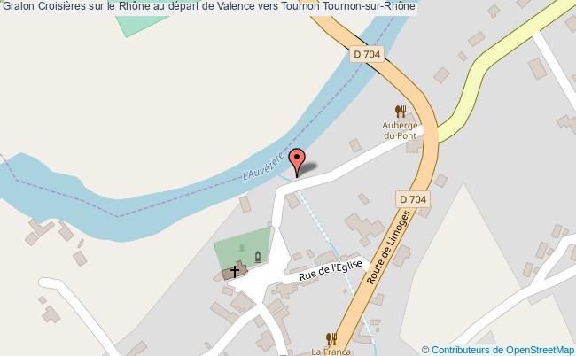 plan Croisières Sur Le Rhône Au Départ De Valence Vers Tournon Tournon-sur-rhône