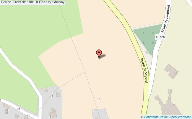 plan Croix De 1881 à Chanay Chanay