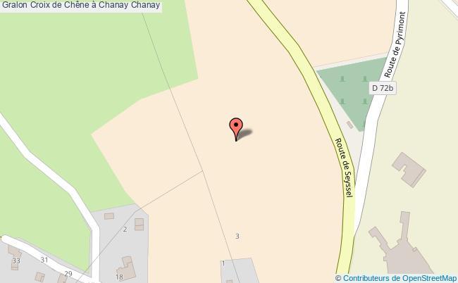 plan Croix De Chêne à Chanay Chanay