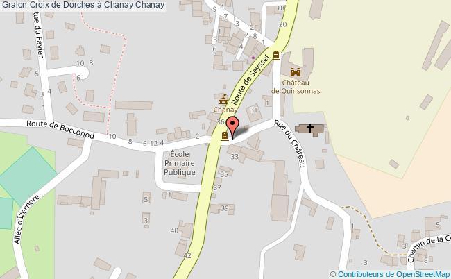 plan Croix De Dorches à Chanay Chanay