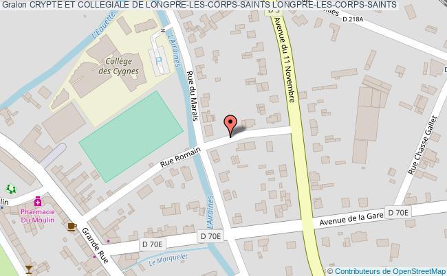plan Crypte Et Collegiale De Longpre-les-corps-saints Longpre-les-corps-saints