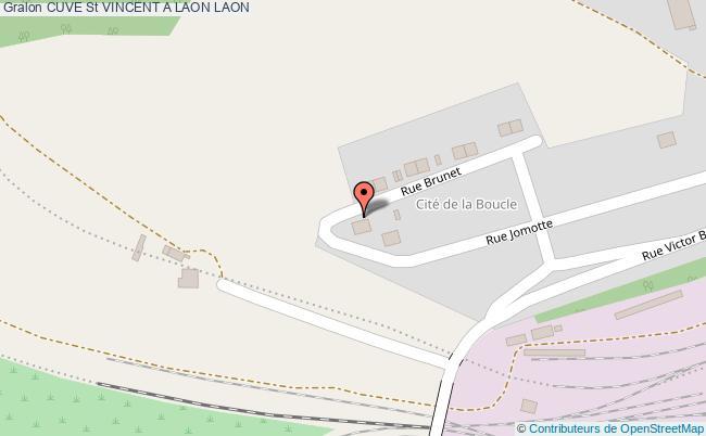 plan association Cuve St Vincent A Laon Laon LAON