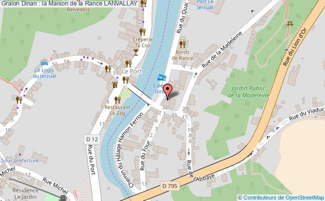 plan association Dinan : La Maison De La Rance Lanvallay LANVALLAY