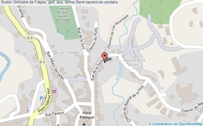 plan Domaine De Falgos, Golf, Spa, Tennis Saint-laurent-de-cerdans