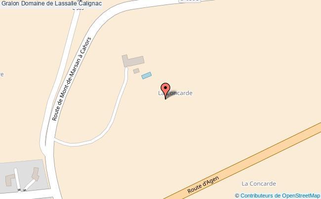 plan association Domaine De Lassalle Calignac Calignac